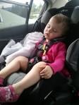 Toddler sleeping in car seat