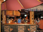 The liveliest place after dark is the Tiki Bar and Grill.