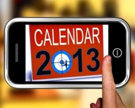 2013 calendar on phone